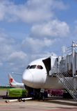 Flygplanstag i den Vietnam Saigon flygplatsen Royaltyfri Bild