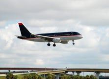 flygplanstrållandning Royaltyfria Bilder