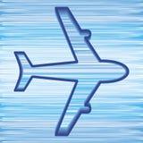 Flygplansymbol Arkivbild