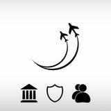 Flygplansymboler symbol, vektorillustration Sänka designstil Arkivbild