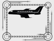 flygplansymbolstransport Fotografering för Bildbyråer