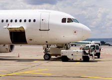 flygplanunderhåll Fotografering för Bildbyråer