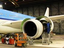 Flygplanunderhåll Royaltyfria Foton