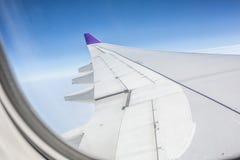 Flygplanvinge Arkivfoton