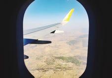 Flygplanvinge Arkivfoto
