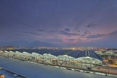 Flygplatsöverblick, Hong Kong flygplats arkivbild