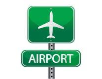 flygplats stock illustrationer