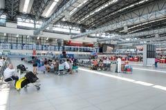 Flygplats av den Prague inre Arkivbild