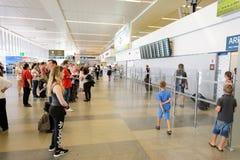 Flygplats av den Prague inre Royaltyfri Foto