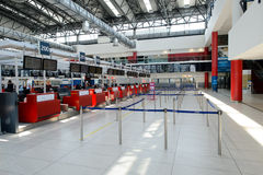 Flygplats av den Prague inre Royaltyfria Bilder