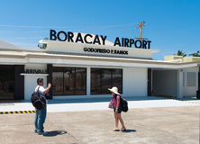 flygplats boracay Arkivfoton