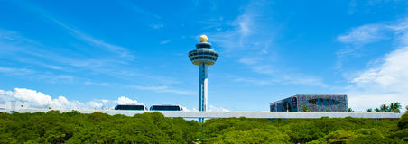 flygplats changi singapore Royaltyfria Bilder