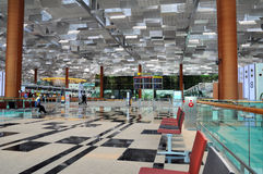flygplats changi singapore Royaltyfria Foton