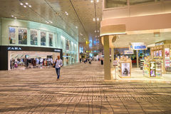flygplats changi singapore Arkivbilder