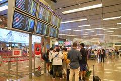 flygplats changi singapore Royaltyfri Bild