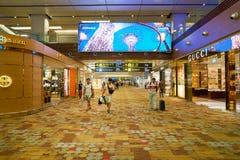 flygplats changi singapore Royaltyfri Foto