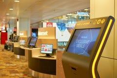 flygplats changi singapore Fotografering för Bildbyråer