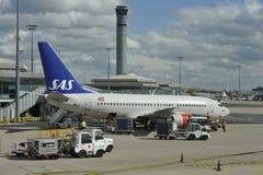 Flygplats Charles de Gaulle nära Paris, Frankrike arkivbild