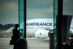 Flygplats Charles de Gaulle - Paris arkivbild
