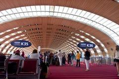flygplats Charles de Gaulle, paris arkivfoton
