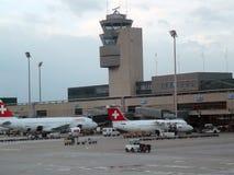 Flygplats för ZÃ-¼rich Fotografering för Bildbyråer