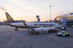 Flygplats - flygplandetalj Royaltyfria Bilder