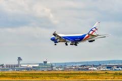 FLYGPLATS FRANKFURT, TYSKLAND: JUNI 23, 2017: Boeing 747 CargoLogicA Fotografering för Bildbyråer