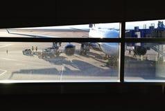 Flygplats i havet Arkivfoto