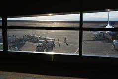 Flygplats i havet Arkivbilder