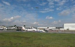 Flygplats i Luton Arkivfoto