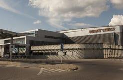 Flygplats i Poznan, Polen Arkivfoton