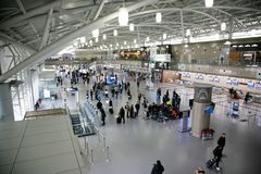 Flygplats i Pusan, Sydkorea royaltyfri foto