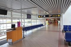Flygplats i Sverige Fotografering för Bildbyråer