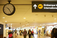 Flygplats internationell sändning Fotografering för Bildbyråer