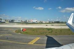Flygplats Lissabon - Portugal arkivfoto