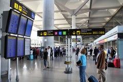 flygplats malaga Arkivbild