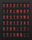 Flygplats mekaniska Flip Board Panel Font Royaltyfri Fotografi