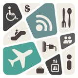 Flygplats- och flygbolagservice royaltyfri illustrationer