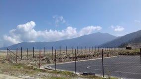 Flygplats på berget royaltyfri bild