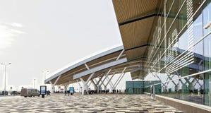 Flygplats Platov som byggs för den FIFA världscupen 2018 passagerare royaltyfri bild
