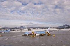 Flygplats Salzburg Arkivbild