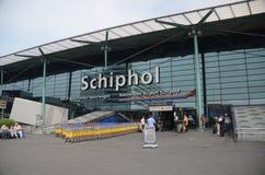 flygplats schiphol Arkivbild