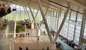 Flygplats som byggs för den FIFA världscupen i 2018 Passagerarna a royaltyfria bilder