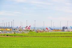 Flygplats Stuttgart, Tyskland arkivbilder