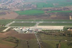 Flygplats Timisuara - Rumänien royaltyfri fotografi