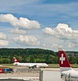 flygplats zurich Fotografering för Bildbyråer