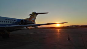 Flygplatsankomst fotografering för bildbyråer