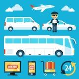 Flygplatsanslutning royaltyfri illustrationer