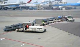 flygplatsarbetare Arkivfoton