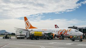 Flygplatsarbetare på Rio de Janeiro ` s Santos Dumont Airport Royaltyfri Bild